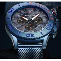 China Wholesale Boamigo 6 Hands Chronograph Luminous Milanese Steel Band Men Wrist Watch 2112 wholesale