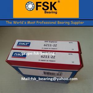China Gcr15 Chrome Steel 6211ZZ Pump Bearings , P4 P2 SKF / KOYO / NTNBall Bearing wholesale