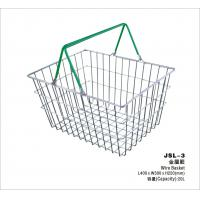 China Small Retail Store Metal Shopping Basket Chrome Plating 400x300x215mm wholesale