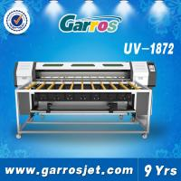 China Digital Sticker Printer Roll to Roll UV Flatbed Printer 1.8m with White Ink Printing wholesale