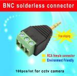 China AUDIO stereo plug 3.5 to 3pin connector AUDIO plug 3.5mm 3 Tracks Stereo Audio Male Plug cctv camera accessory wholesale