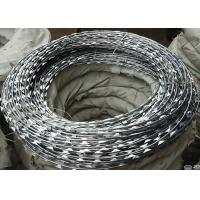 China BTO-22 Security Concertina Razor Barbed Wire Galvanized Surface 0.5mm Thickness wholesale