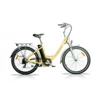 China 3 Assist Level Pedal Assist Bicycles , Alloy Double Wall Ladies Electric Bicycle wholesale