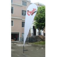 China Knitted Fabric Outdoor Advertising Flags And Banners Luxury Cross Base wholesale