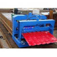 China Waterproof Glazed Tile Roll Forming Machine 13 Rows 75mm Principal Axis Dia wholesale