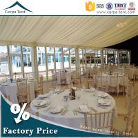 China Universal Glass Wall Tent  Clear Span Tents  for Events with Furniture/Floor/Lining wholesale