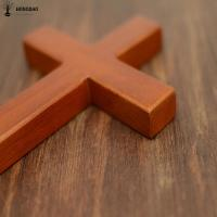 China Holding Hand Olive Pine Wood Solid Unfinished Wooden Crosses , Wooden Pocket Crosses wholesale