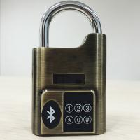 Quality High Security Intelligent Bluetooth Door Alarm Lock Smart Travel Luggage Padlock for sale