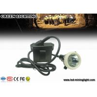 China 500g 4000 Lux  6.6ah Waterproof Safety Led Cap Lamp With Li - Ion Battery ,16h  Long Work Time wholesale