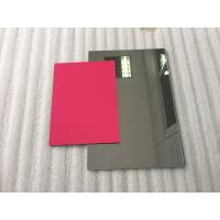 China Pearl Red ACP Aluminium Composite Panel Sheets Lightweight With PVDF Painting wholesale