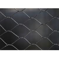 China SS316 Black Oxide Wire Rope Mesh Net Weatherproof With 25-300mm Aperture 25-300mm on sale