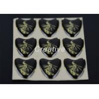 Quality Bright Golden Printable Heart Shaped Labels Epoxy Resin Stickers For Promotional for sale