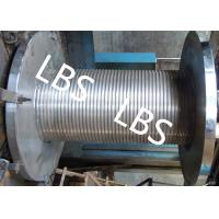 China Custom Lebus Groove Wire Rope Drum With High Speed Rope Wheel wholesale