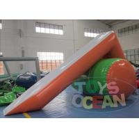 China Inflatable L Shape Water Slide Water Games For Adults By 5M Length wholesale