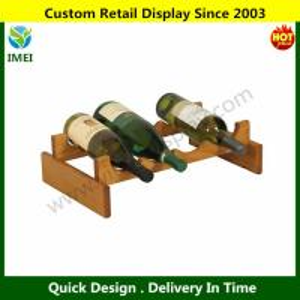 China Wooden Mallet 4-Bottle Dakota Wine Rack, Medium Oak YM6-091 wholesale