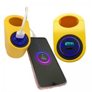 China QC 3.0 Car Charger 12V 24V dual USB power socket digital display voltmeter For car Boat yacht bus RV wholesale