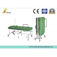China Powder Coated Steel Medical Foldable Hospital Bed With Mattress (ALS-F249) on sale