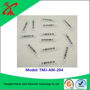 China 58khz Customized Am Label Eas Soft Tags Barcode Color Eas Soft Label TMJ-AM-204 wholesale