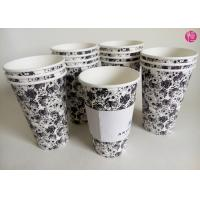 China Single Wall 16oz Hot Tea coffee takeaway cups Custom Paper Sleeve wholesale