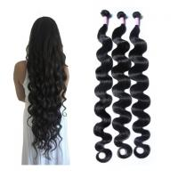 China 30 Inch Body Wave Long Indian Human Hair Weave 100 Grams / Piece on sale