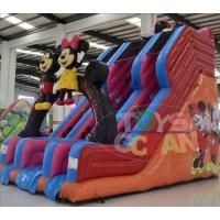 Quality Big Inflatable Water Slides For Pools / Mickey Mouse Inflatable Double Water Slide for sale