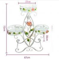 China Decorative Three Tier Plant Stand Outdoor , Heavy Duty Wire Plant Stand Garden Furniture Ornaments wholesale