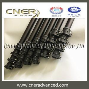 China Telescopic carbon fiber pole,extension pole,telescopic carbon fiber tube with clamps on sale
