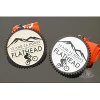 China Sandblasted Back Die Casting Custom Sports Medals  For Running Or Riding wholesale
