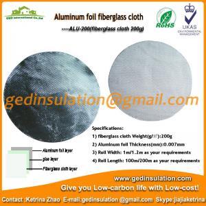 Insulation Materials,Aluminum Fiberglass Cloth Fabric 200g/M2 Fiberglass Fabric