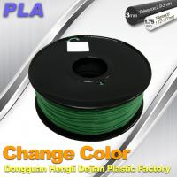 China 1.75 / 3.0mm 3D Printing PLA Filament , Color Changing Filament  Blue Green to Yellow Green wholesale