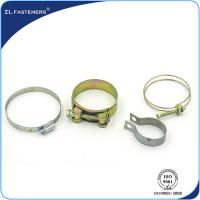 China Galvanized Stainless Steel Hose Clamps Bright Zinc / Yellow Zinc Coated wholesale