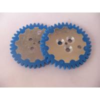 China Aluminium Silicone Rubber Gear Wheel , Custome Rubber to Metal Gear, Good Bonding wholesale
