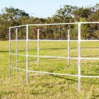 "China Round Corral Panels Yard Panels 6 Oval Rails. Locking Pins. "". Victoria "" wholesale"