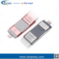 Buy cheap High speed 3 in 1 flash drive usb 16GB 32GB 64GB 128G card with usb OTG from wholesalers
