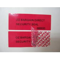 Buy cheap Polyerster Film / Glasine Paper Low Residue Tamper Evident Security Labels For from wholesalers