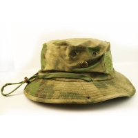 China 100% Cotton Camo Bucket Hat With String Custom Embroidery Blank Logo wholesale