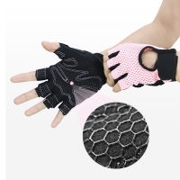 China Manufacturer customizable logo gym gloves breathable half finger fitness exercise weight lifting gloves wholesale