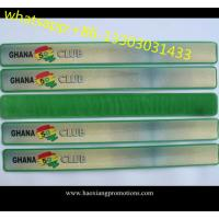 China New product of promotional reflective PVC slap wristbands made in China wholesale