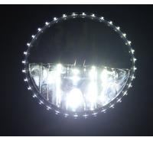 China 1 Pair 7 INCH White 30W 6000K Round LED Daytime Running Light DRL Car Fog Day Driving Lamp wholesale