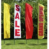China Rectangle Beach Garden Flags Banner 600D Oxford Fabric 380*70cm wholesale