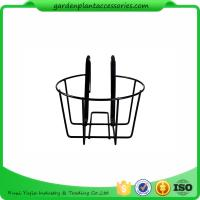 China Round Metal Wire Balcony Planting Hanging Baskets / Hanging Pots For Plants wholesale