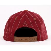 Quality Youth Red Strip Fabric Snapback Baseball Caps Embroidered For Summer / Autumn for sale