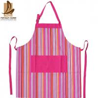 China Pretty Blue/Pink Striped Cotton Kitchen Apron Personalised Cooking Aprons wholesale