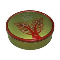 China Goelia Promotional Metal Tins With Lids Clinder Shape Green Color 0.23 mm Thickness wholesale