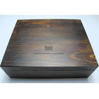 China Customized Handmade Wooden Gift Boxes , Darker Wood Color Personalized Wooden Box With Lock wholesale