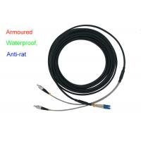 China Waterproof Armoured Duplex Fiber Optical Indoor 5.0 Patch Cord Anti-rat DX LC FC wholesale