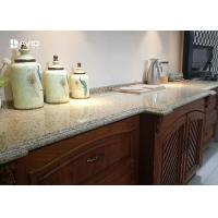 China Beige Sparkle Quartz Worktops Glossy Polished Ogee Edge Scratch Resistant wholesale