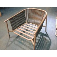 China Rope woven chair with powder coating aluminum frame by Clover Lifestyle on sale