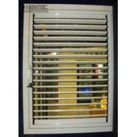 China T5 / T6 Blinds Aluminum Window Frame Extrusions Gold Color ROHS wholesale