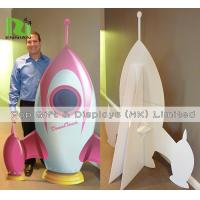 China Cardboard Standee Display Stand Funny Rocket Shape POS Retail Hanging Display wholesale
